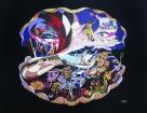 """Bird, """"Visions"""" Acrylic on Canvas"""